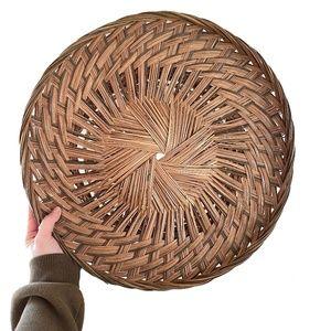 Large Round Wicker Basket - Basket Wall Art